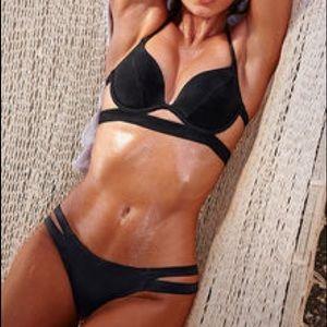VS Black strappy bikini